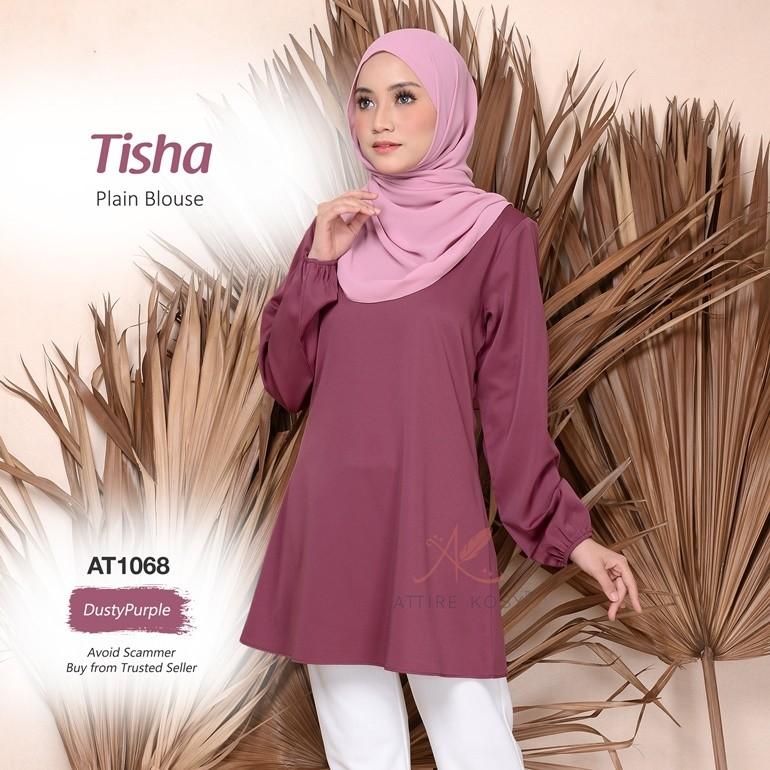 Tisha Plain Blouse AT1068 (DustyPurple)