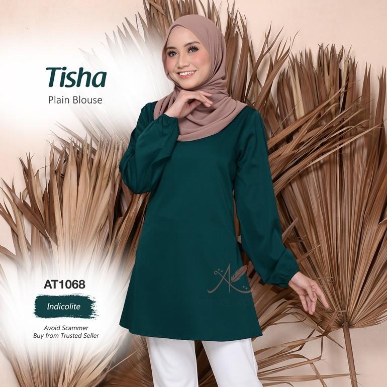 Tisha Plain Blouse AT1068 (Indicolite)