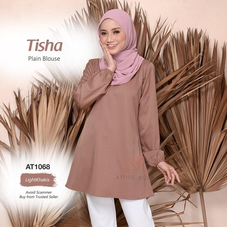 Tisha Plain Blouse AT1068 (LightKhakis)