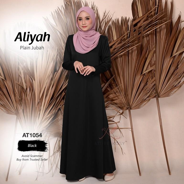 Aliyah Plain Jubah AT1054 (Black)