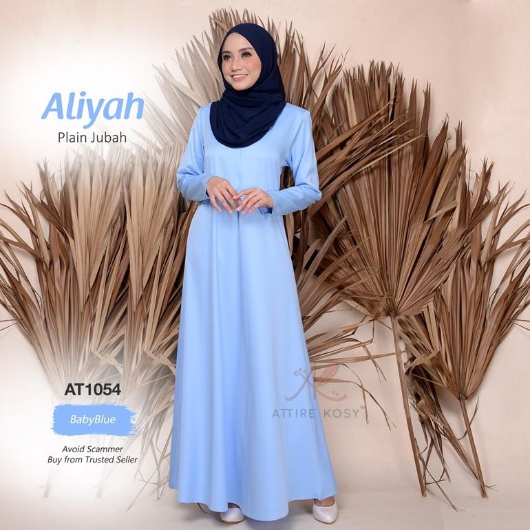 Aliyah Plain Jubah AT1054 (BabyBlue)