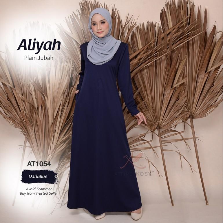 Aliyah Plain Jubah AT1054 (DarkBlue)