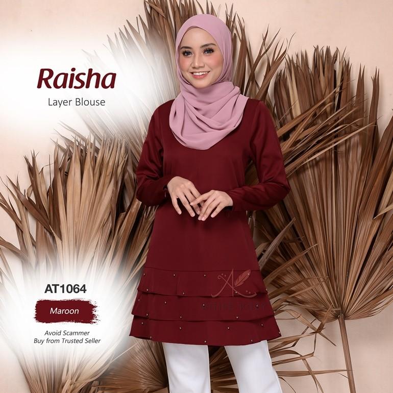 Raisha Layer Blouse AT1064 (Maroon)