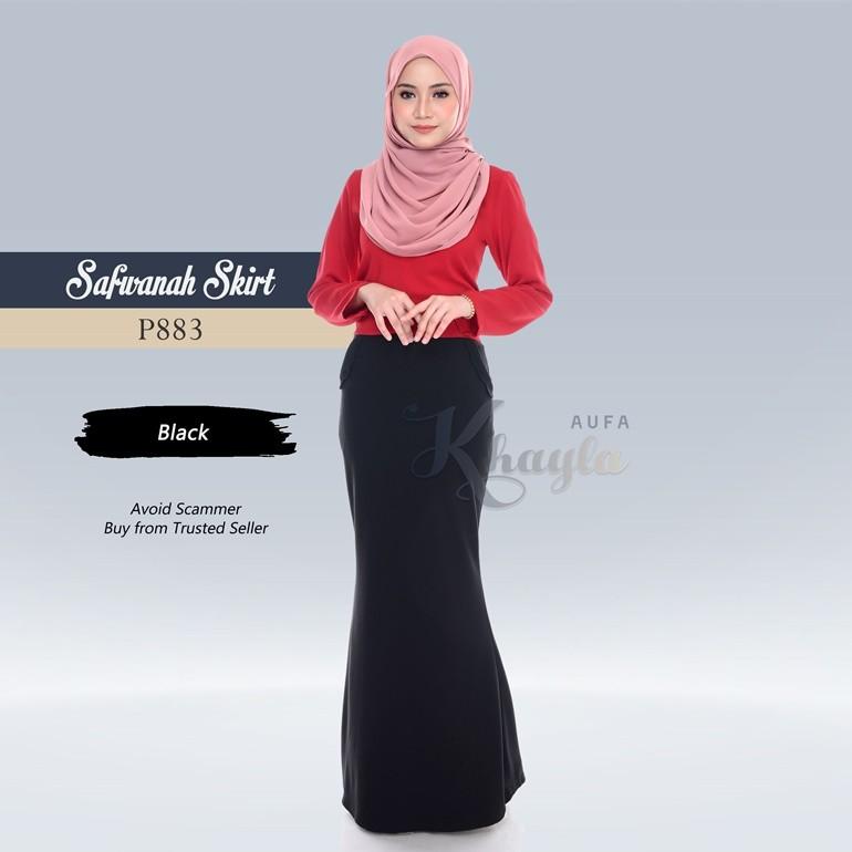 Safwanah Skirt P883 (Black)