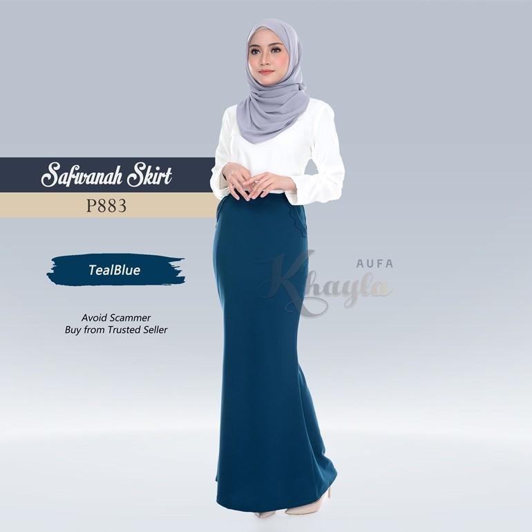 Safwanah Skirt P883 (TealBlue)