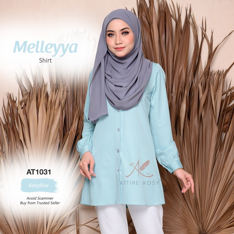 Melleyya Shirt AT1031 (BabyBlue)