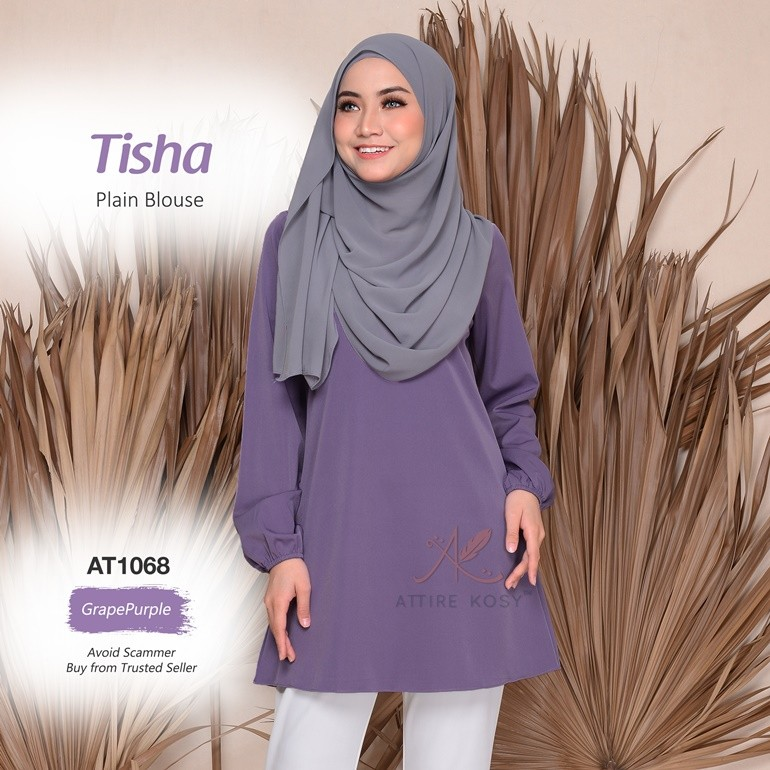 Tisha Plain Blouse AT1068 (GrapePurple)