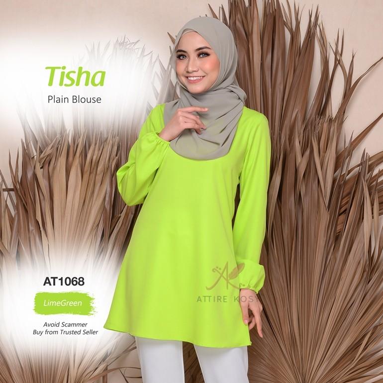 Tisha Plain Blouse AT1068 (LimeGreen)