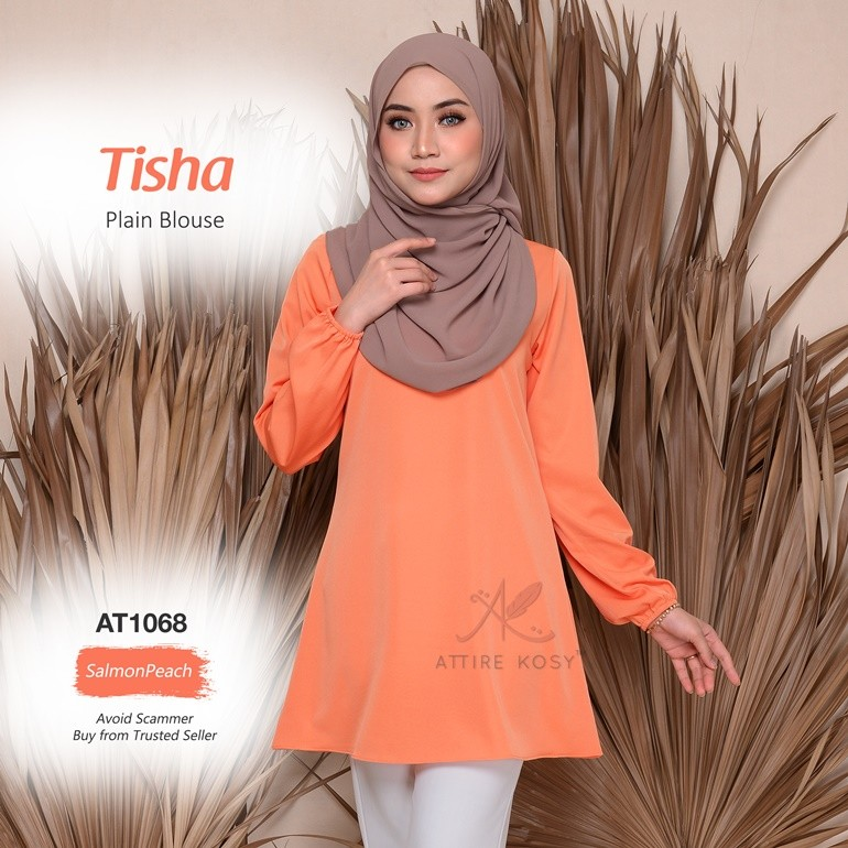 Tisha Plain Blouse AT1068 (SalmonPeach)