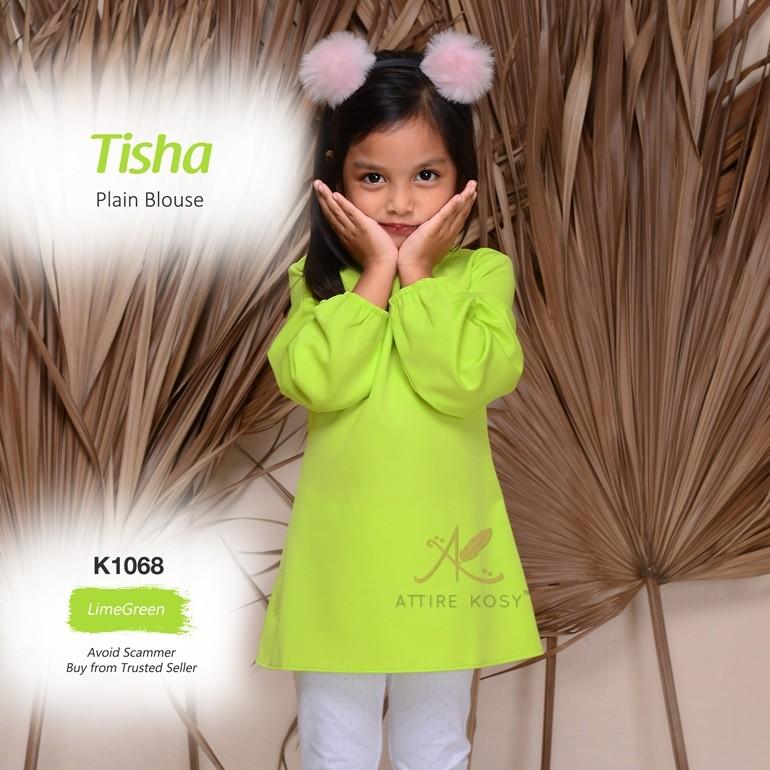 Tisha Plain Blouse K1068 (LimeGreen)