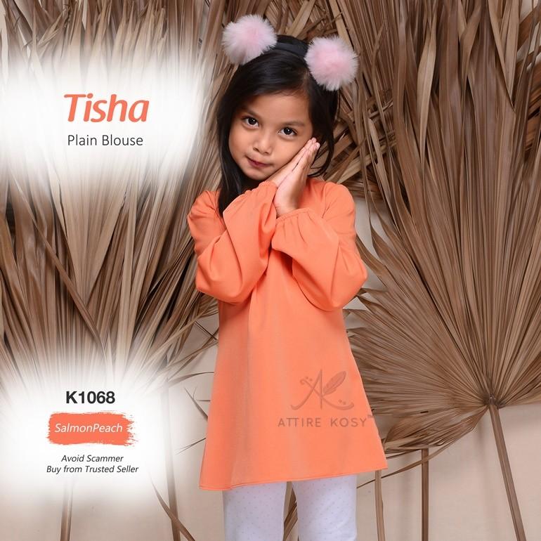 Tisha Plain Blouse K1068 (SalmonPeach)