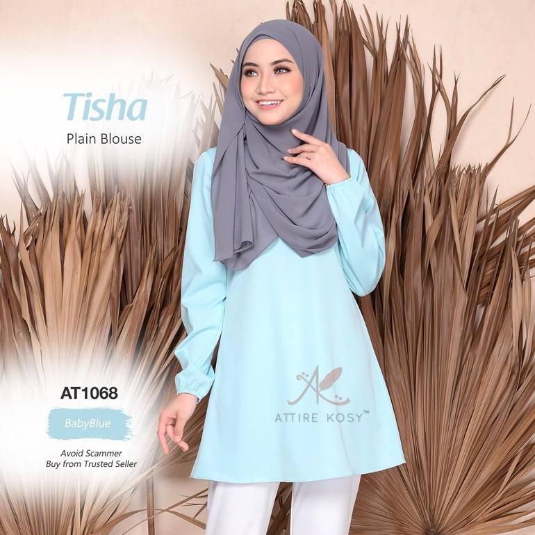 Tisha Plain Blouse AT1068 (BabyBlue)