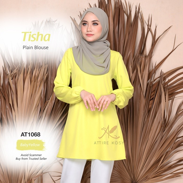 Tisha Plain Blouse AT1068 (BabyYellow)