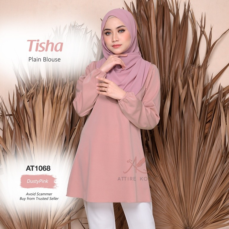 Tisha Plain Blouse AT1068 (DustyPink)