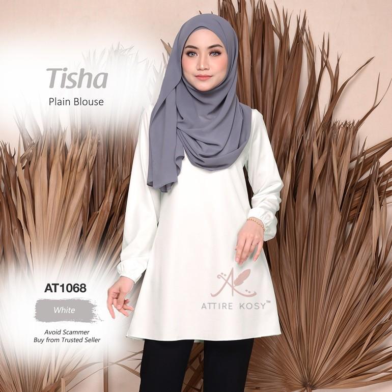 Tisha Plain Blouse AT1068 (White)