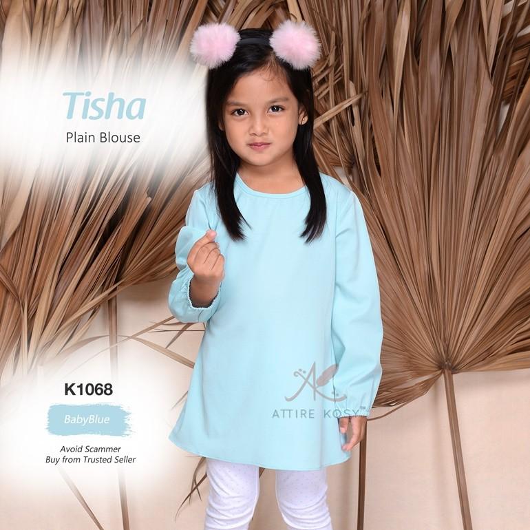 Tisha Plain Blouse K1068 (BabyBlue)