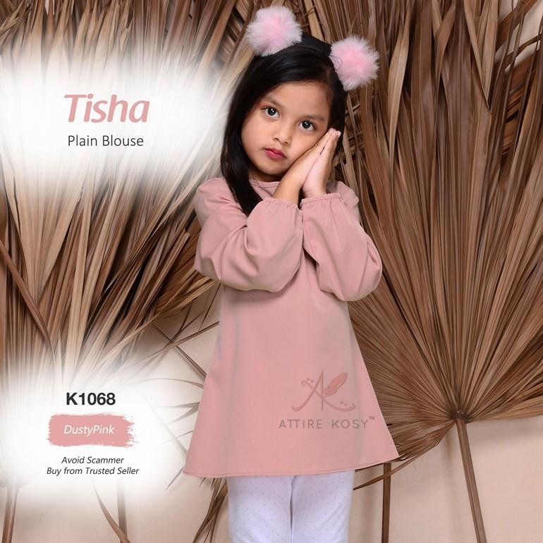 Tisha Plain Blouse K1068 (DustyPink)