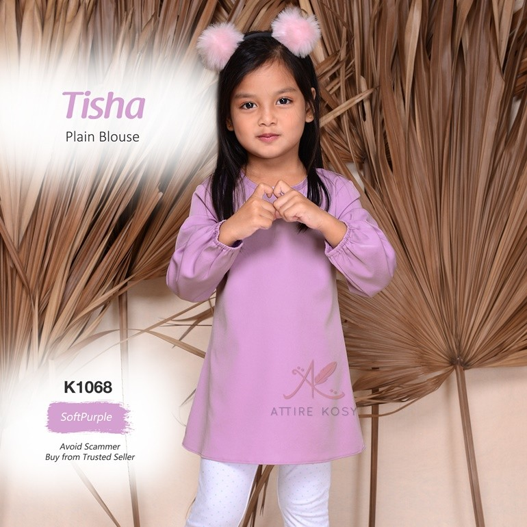 Tisha Plain Blouse K1068 (SoftPurple)