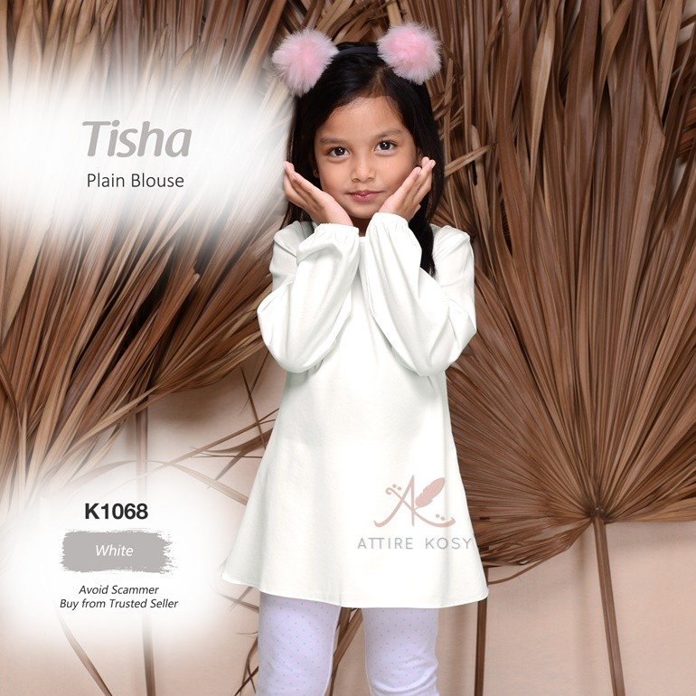 Tisha Plain Blouse K1068 (White)