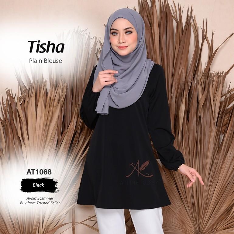 Tisha Plain Blouse AT1068 (Black)