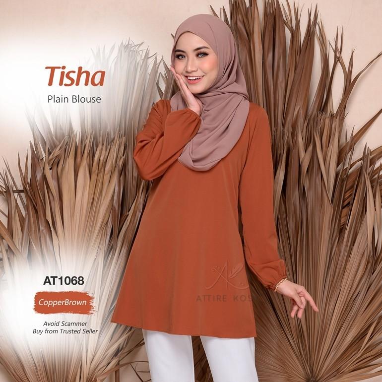 Tisha Plain Blouse AT1068 (CopperBrown)