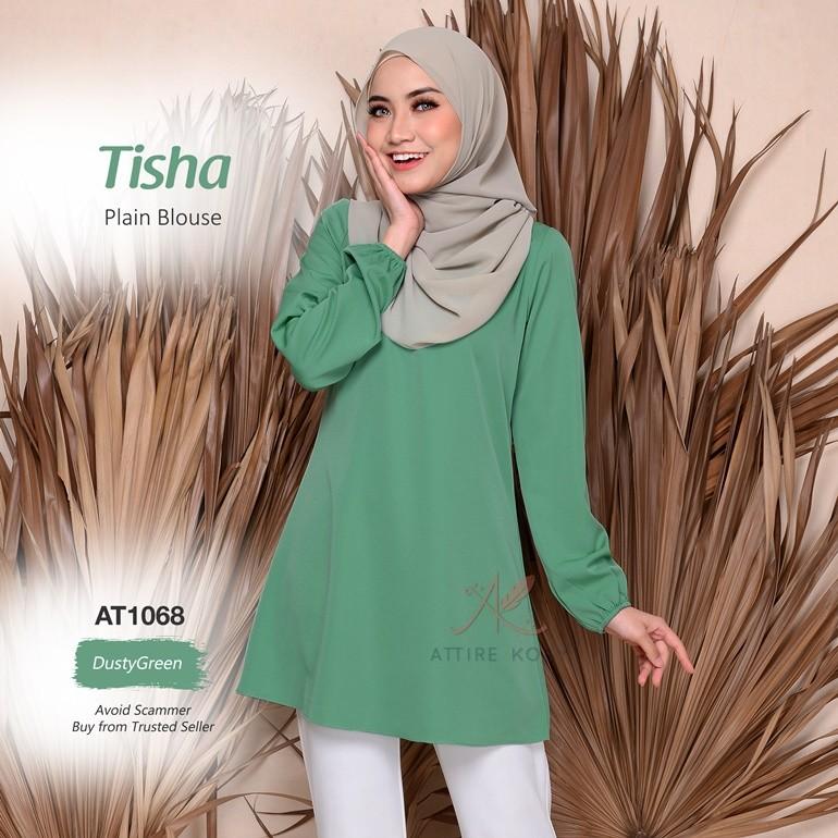 Tisha Plain Blouse AT1068 (DustyGreen)
