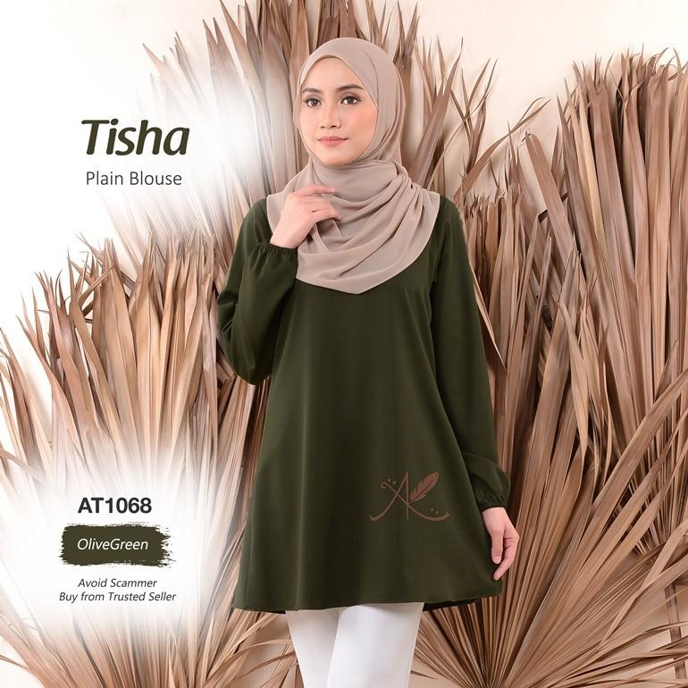 Tisha Plain Blouse AT1068 (OliveGreen)