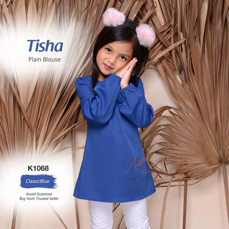 Tisha Plain Blouse K1068 (ClassicBlue)
