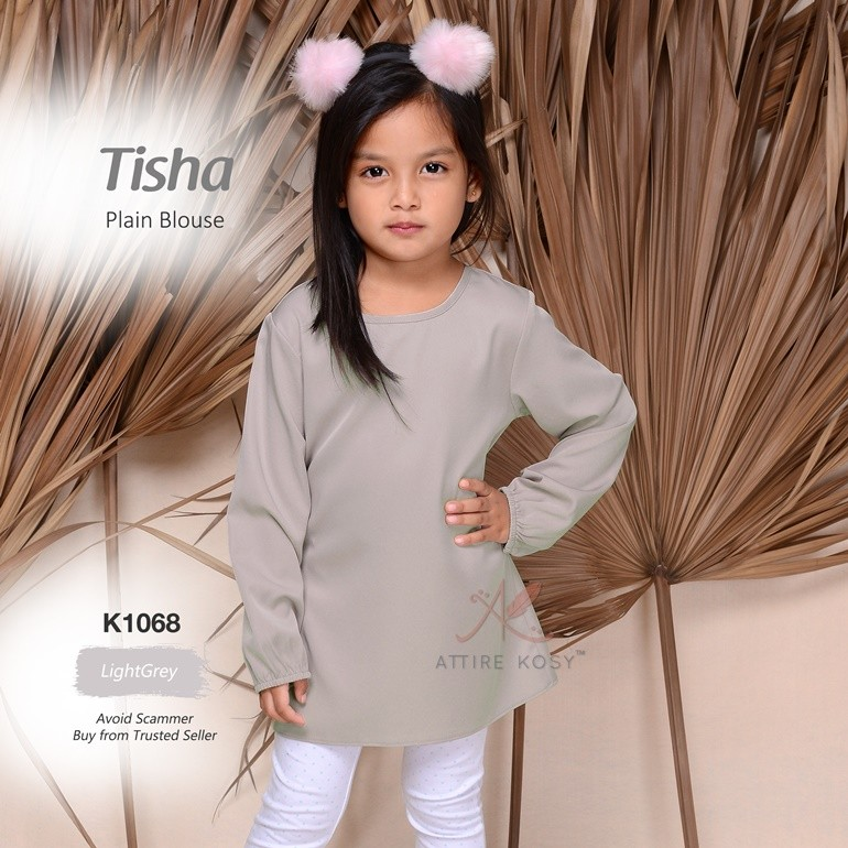 Tisha Plain Blouse K1068 (LightGrey)
