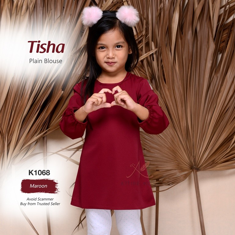 Tisha Plain Blouse K1068 (Maroon)