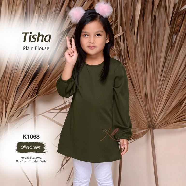 Tisha Plain Blouse K1068 (OliveGreen)