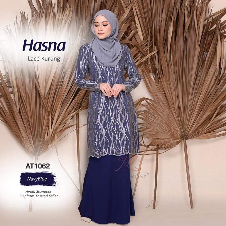 Hasna Lace Kurung AT1062 (NavyBlue)