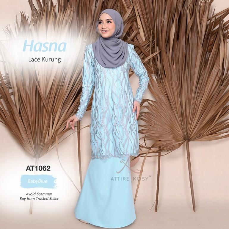 Hasna Lace Kurung AT1062 (BabyBlue)