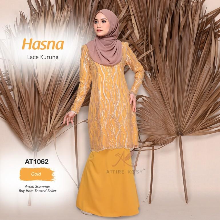 Hasna Lace Kurung AT1062 (Gold)