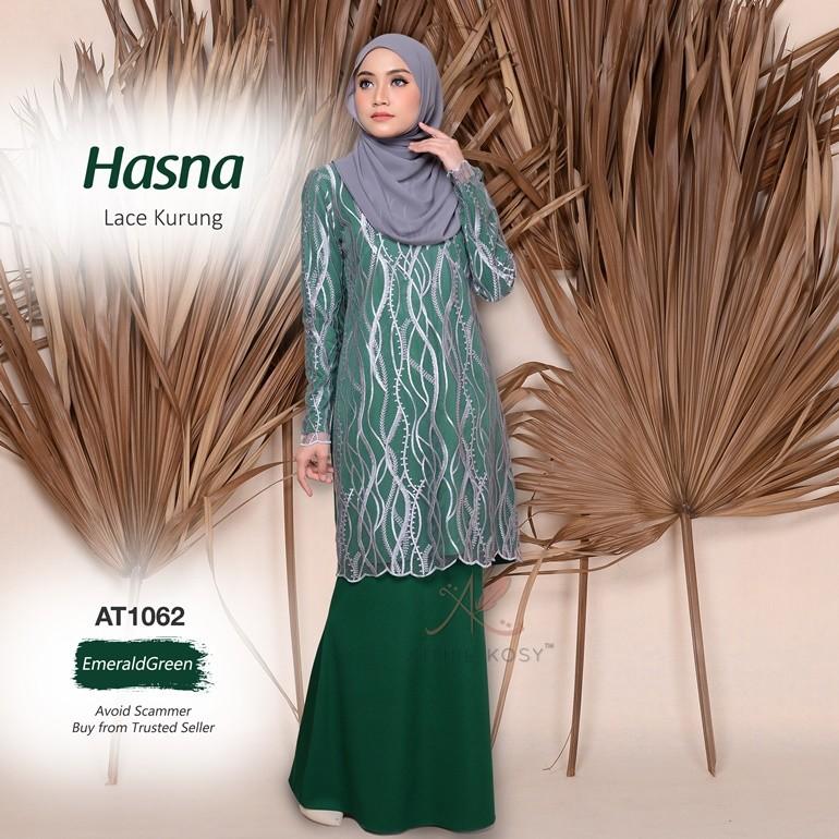 Hasna Lace Kurung AT1062 (EmeraldGreen)