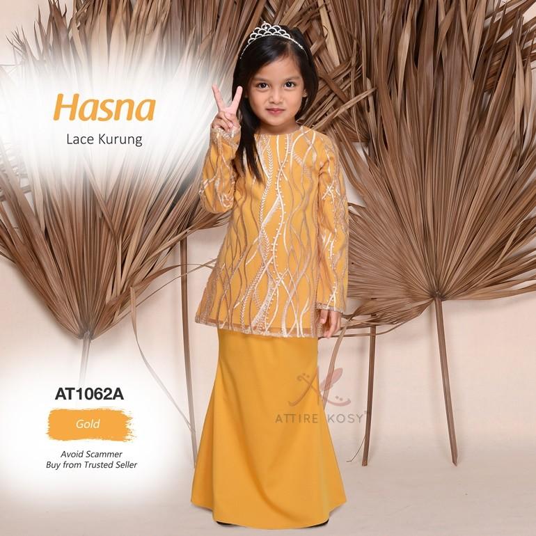 Hasna Lace Kurung AT1062A (Gold)