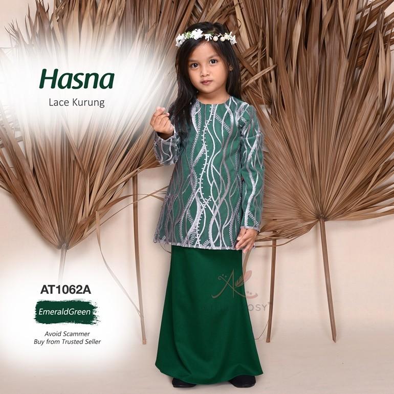 Hasna Lace Kurung AT1062A (EmeraldGreen)