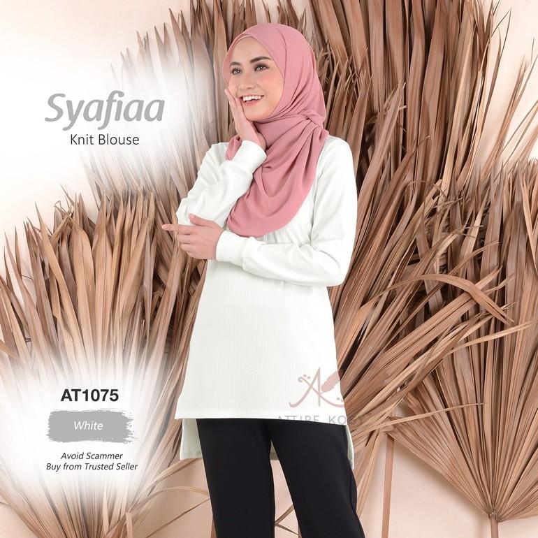 Syafiaa Knit Blouse AT1075 (White)