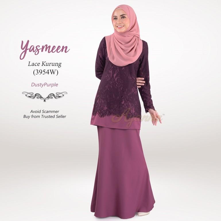 Yasmeen Lace Kurung 3954W (DustyPurple)