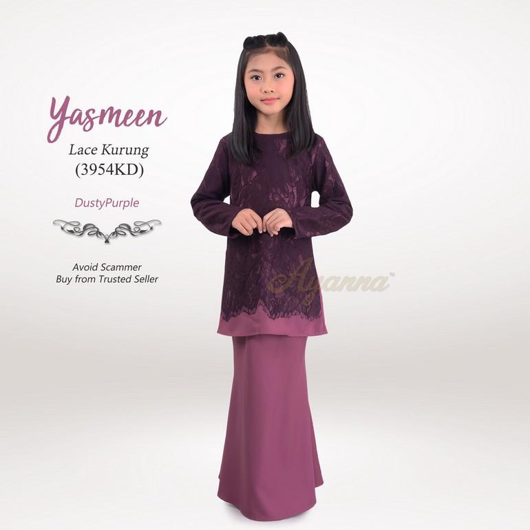 Yasmeen Lace Kurung 3954KD (DustyPurple)