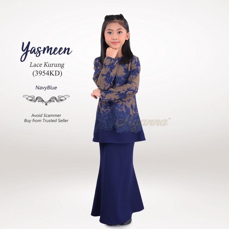 Yasmeen Lace Kurung 3954KD (NavyBlue)