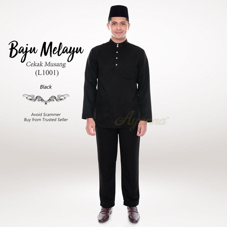 Baju Melayu Cekak Musang L1001 (Black)