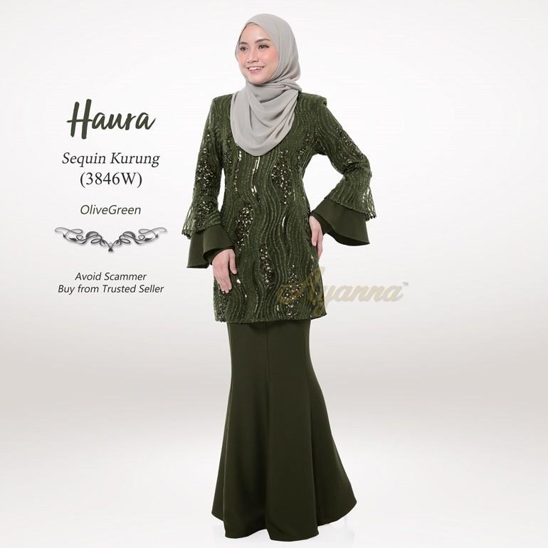 Haura Sequin Kurung 3846W (OliveGreen)