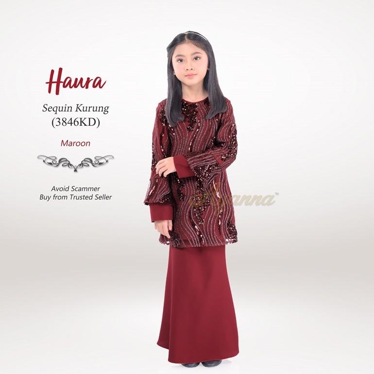 Haura Sequin Kurung 3846KD (Maroon)