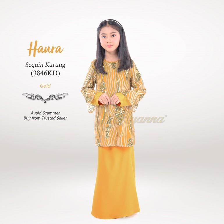 Haura Sequin Kurung 3846KD (Gold)