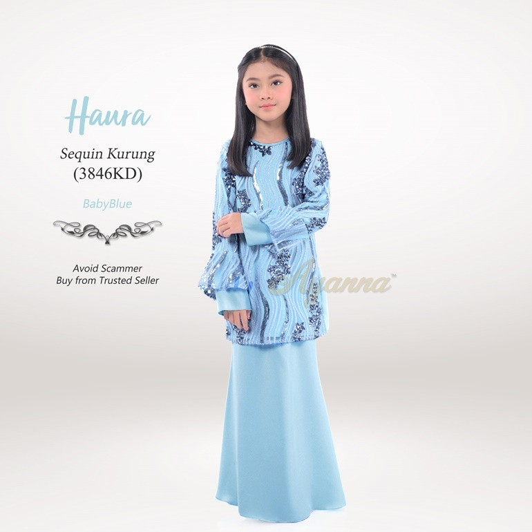 Haura Sequin Kurung 3846KD (BabyBlue)