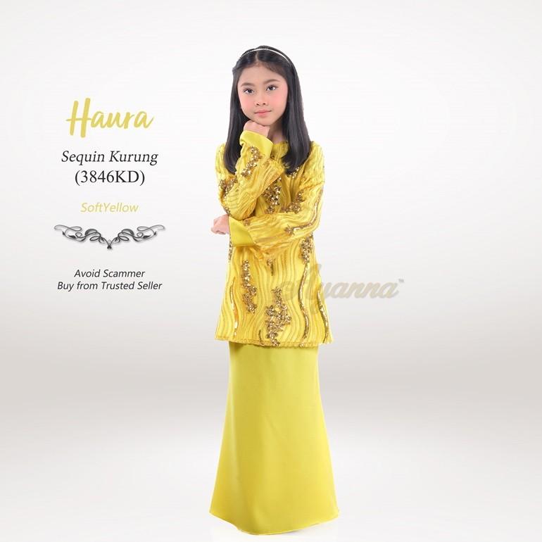 Haura Sequin Kurung 3846KD (SoftYellow)