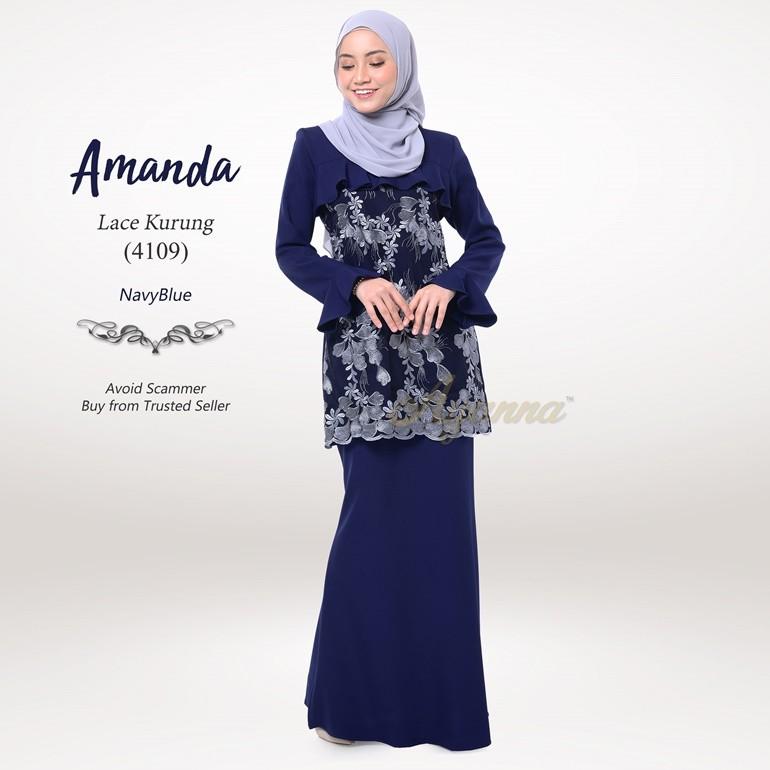 Amanda Lace Kurung 4109 (NavyBlue)