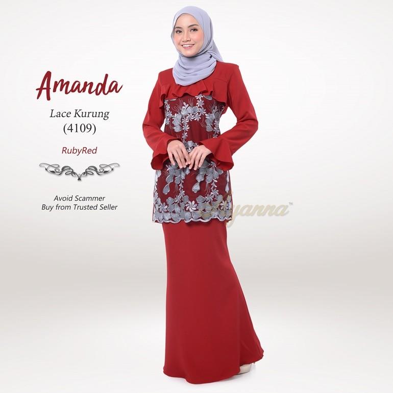 Amanda Lace Kurung 4109 (RubyRed)