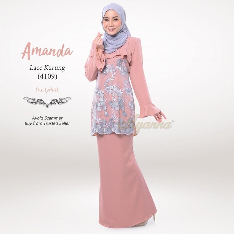 Amanda Lace Kurung 4109 (DustyPink)